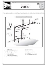 automatisatie met treksysteem voor kantelpoorten - CAME