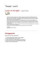 Tempel – Les 8 Lezen uit de bijbel Lucas 12:13-22 - Bijbelverhalen