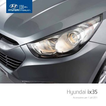 Hyundai ix35 accessoire brochure