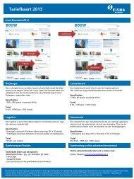 Tariefkaart online - Adverteren bij Eisma