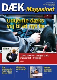 Udtjente dæks vej til et nyt liv – i Sverige - Dækbranchens Fællesråd