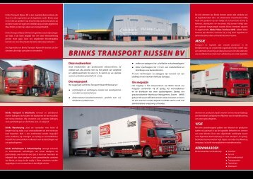 Bedrijfsbrochure Brinks Transport & Distributie - EVO
