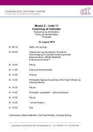Modul 2 – hold 11 Coaching af individer - Copenhagen Coaching ...
