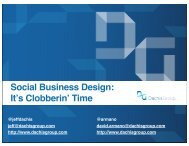 Social Business Design: Its Clobberin Time