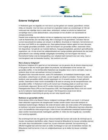 Externe Veiligheid - Omgevingsdienst Midden-Holland
