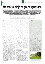Mekanisk pleje af greensgræsser - Turfgrass