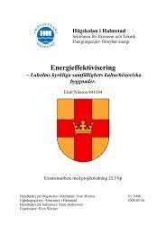Energieffektivisering - Spara och bevara