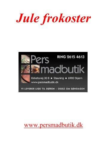Jule Brochure - PERs Madbutik
