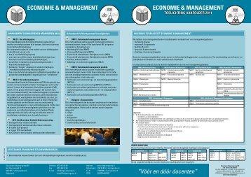 Vakfolder Economie & Management, bijlage 1 - Uitgeversgroep