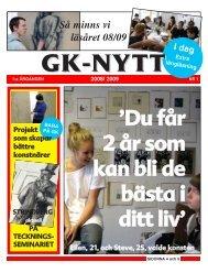 Ladda ner hela tidningen i PDF (6,2 MB) - Göteborgs konstskola