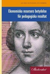Ekonomiska resursers betydelse för pedagogiska ... - Hundochkatter