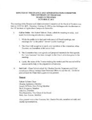 Finance and Administration Committee Meeting - Board of Trustees ...