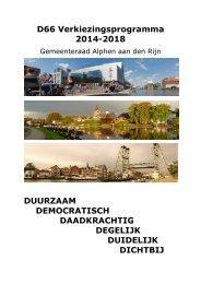 D66 Verkiezingsprogramma 2014-2018 ... - D66 Groene Hart