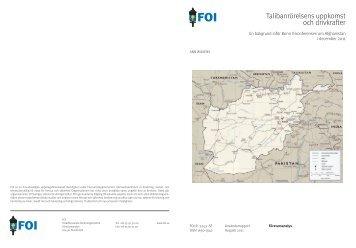 Talibanrörelsens uppkomst och drivkrafter - Svenska ...