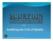 Justifying the Cost of Quality - Southern California Quality Assurance ...