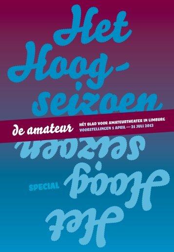 voorstellingen 1 april — 31 juli 2013 hét blad voor ... - LFA