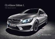 CLA-Klasse Edition 1. - Mercedes-Benz