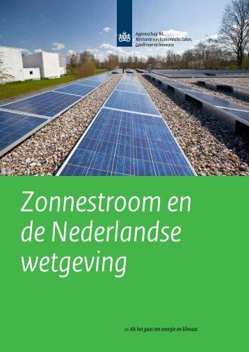 Zonnestroom en de Nederlandse wetgeving - Hier opgewekt