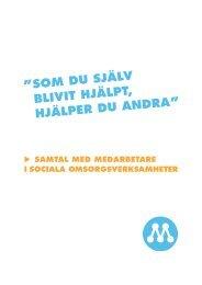 Samtal med social sektor - Moderaterna i Kronoberg