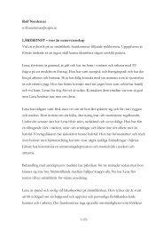 Läs hela Rolf Nordemars text här - Sigtunastiftelsen
