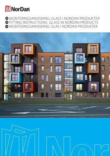 MONTERINGSANVISNING: GLASS I NORDAN ... - NorDan UK Ltd