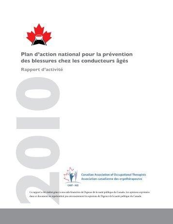 Plan d'action national pour la prévention des blessures chez les ...