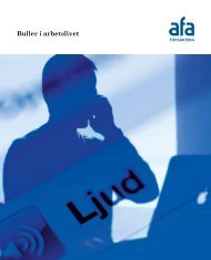 Skriften: Buller i arbetslivet - AFA Försäkring