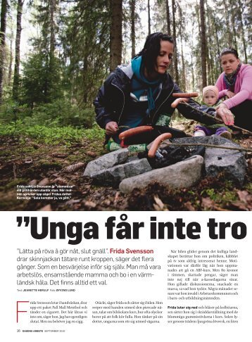 Möt Frida Svensson - Dagens Arbete