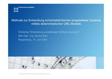 Methode zur Entwicklung sicherheitskritischer ... - Ada Deutschland
