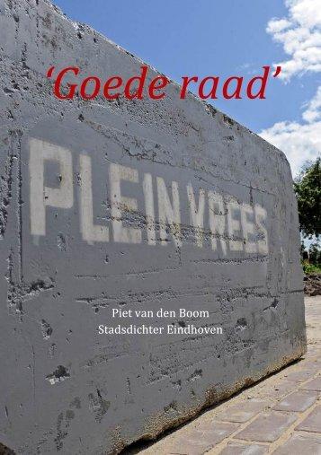 'Goede raad' - stadsdichter in Eindhoven