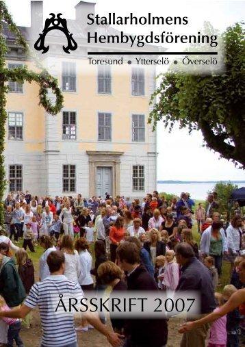 2007 - Stallarholmens Hembygdsförening