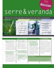 Dossier Serre & Veranda