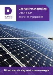 Gebruikershandleiding Direct Solar zonne-energiepakket