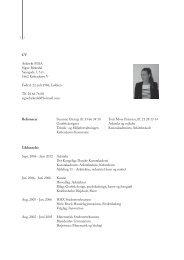 Signe's CV - PRO | Arkitektur