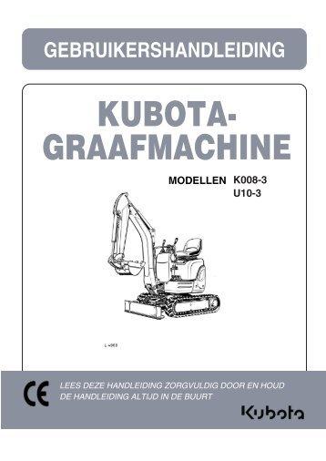 KUBOTA- GRAAFMACHINE