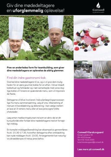 """""""Find din indre gastronomi kok""""(pdf) - Comwell Klarskovgaard"""