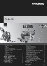 Prijslijst 2012 - Protool