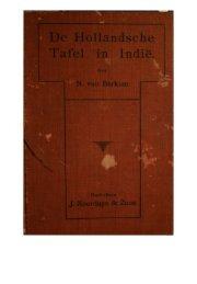 De Hollandse Tafel in Indië - weeten