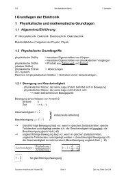 I Grundlagen der Elektronik 1 Physikalische und mathematische ...