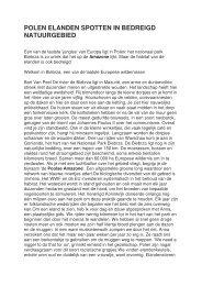 POLEN ELANDEN SPOTTEN IN BEDREIGD ... - Bart Van Peel