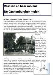 De Cannenburgher molen - Museum Vaassen Historie