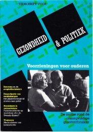 Tijdschrift Gezondheid en Politiek jaargang 1987 nr 1