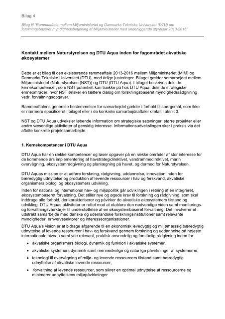 Bilag 4 Natyrelsen-DTU Aqua - Miljøministeriet