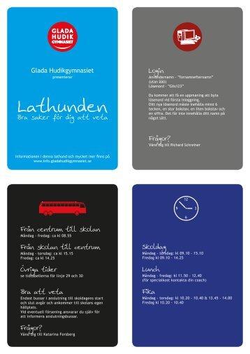 Lathunden - Glada Hudikgymnasiet