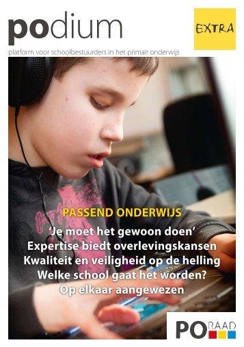 Podium (extra) Passend Onderwijs - Kennisnet