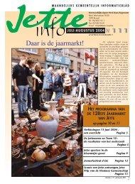 Jette Info 111 NL - 7/2004