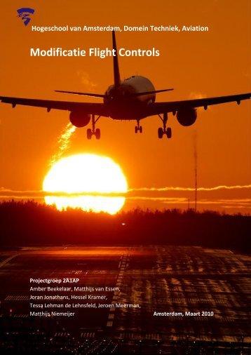 Modificatie Flight Controls - Portfolio Matthijs van Essen