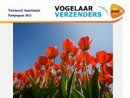 Presentatie Vernieuwd Assortiment Vogelaar PostNL dec