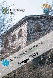 SD Göteborgs budgetförslag 2009
