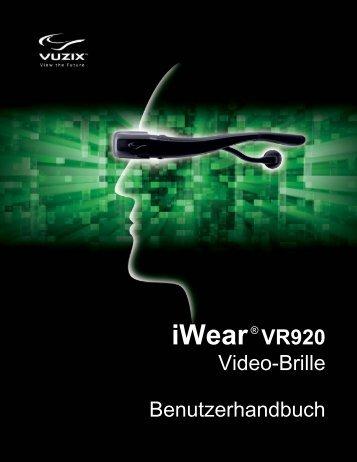 Video-Brille anschließen. - Vuzix